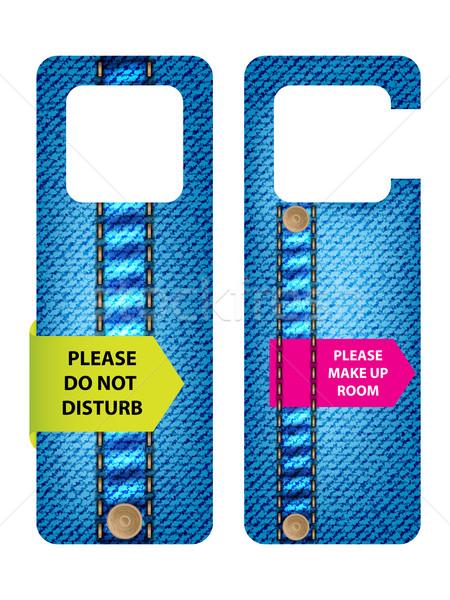 hotel do not disturb door hanger with special jeans design Stock photo © place4design