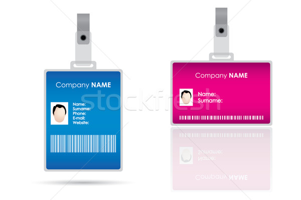 Name tag for id card Stock photo © place4design