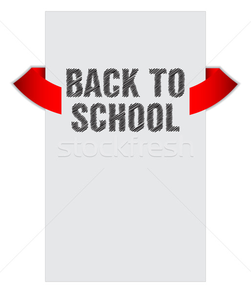Back to school banner with special sketch design Stock photo © place4design