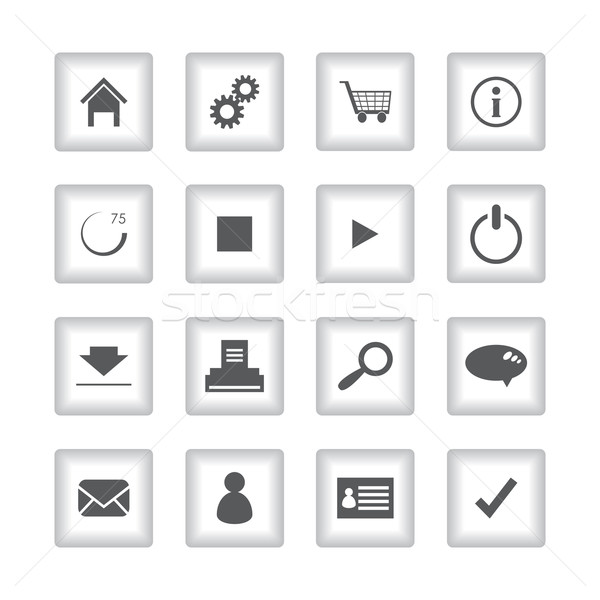 special flat ui icons for web and mobile applications Stock photo © place4design
