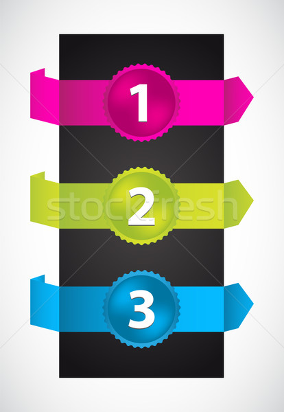 trendy colors origami with special numbered buttons Stock photo © place4design