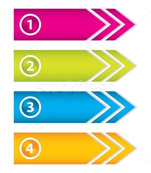 Especial seta adesivos conjunto botões negócio Foto stock © place4design