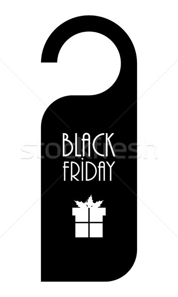 Black friday etiqueta especial preto publicidade papel Foto stock © place4design