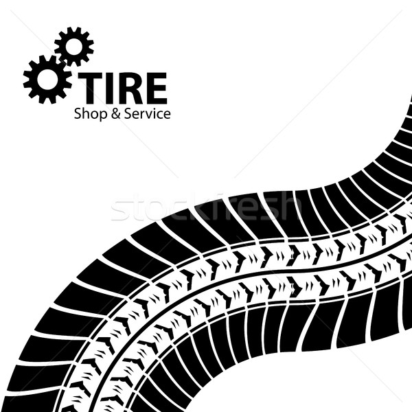 tire shop and service background Stock photo © place4design