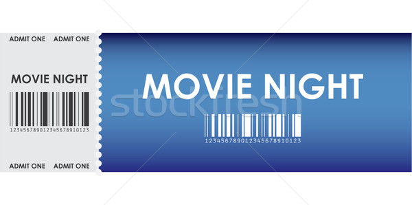 special blue movie ticket Stock photo © place4design