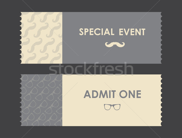 vector paper ticket with hipster elements Stock photo © place4design