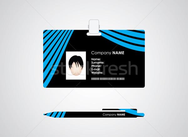 Identificación tarjeta pluma especial diseno negocios Foto stock © place4design