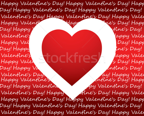 special Valentine's day background with heart Stock photo © place4design