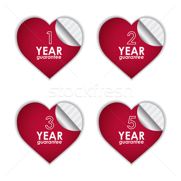 vector set of guarantee labels Stock photo © place4design