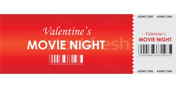 valentine's movie night Stock photo © place4design