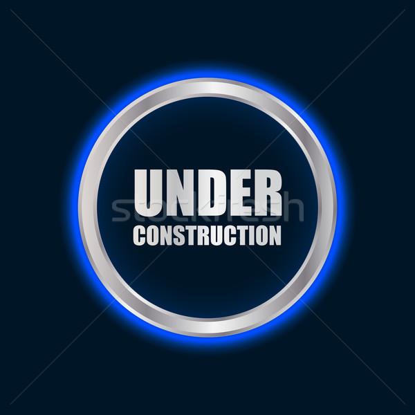 Vektör inşaat imzalamak plazma dizayn çalışmak Stok fotoğraf © place4design