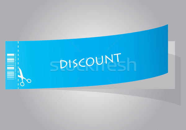 special blue discount coupon  Stock photo © place4design