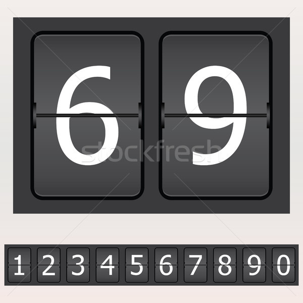 Set of numbers on a mechanical timetable - Christmas edition Stock photo © place4design