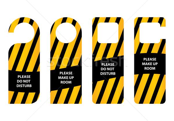hotel do not disturb door hanger  Stock photo © place4design