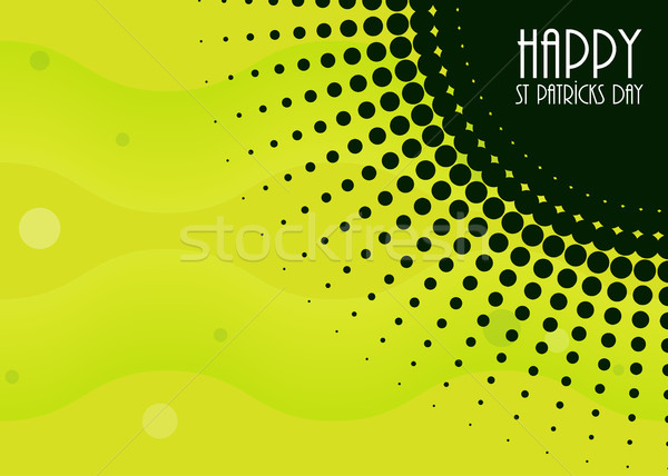 abstract background with Saint Patrick's Day design Stock photo © place4design