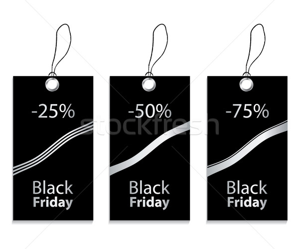 Papier prix tag black friday affaires mode Photo stock © place4design