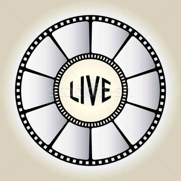 LIVE sign - vector Stock photo © place4design