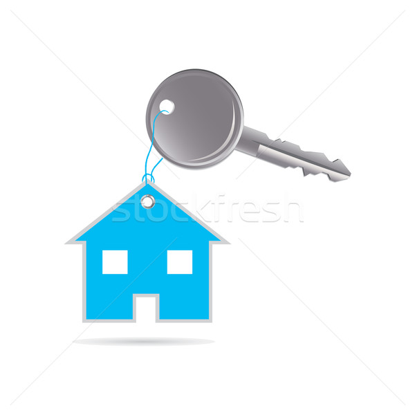 metal key and house with special design Stock photo © place4design