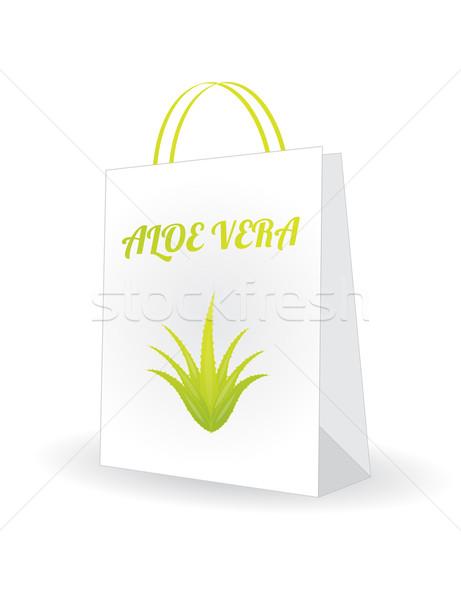 ショッピングバッグ アロエ デザイン 医療 葉 健康 ストックフォト © place4design