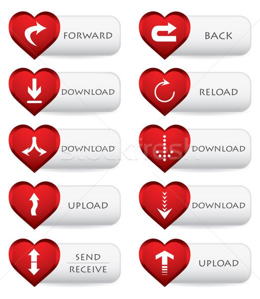 Web simgesi indir valentine dizayn bilgisayar kalp Stok fotoğraf © place4design