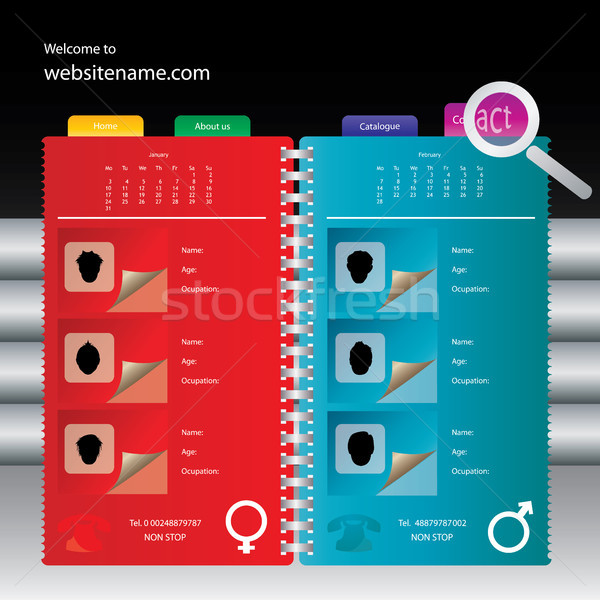 Web site design template, vector. Stock photo © place4design