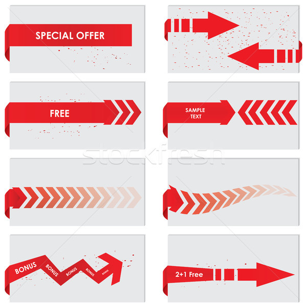 red paper tag - Vector sale announcement Stock photo © place4design