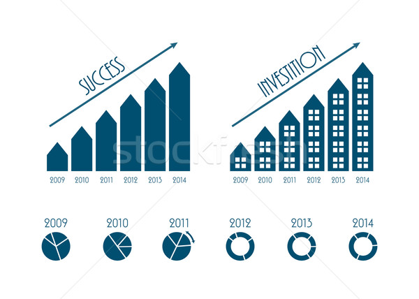 modern business infographics elements, vector illustration, EPS1 Stock photo © place4design