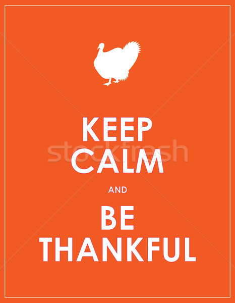 special keep calm banner for thanksgiving day Stock photo © place4design