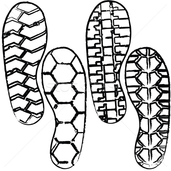Ayakkabı dizayn arka plan sanat imzalamak polis Stok fotoğraf © place4design