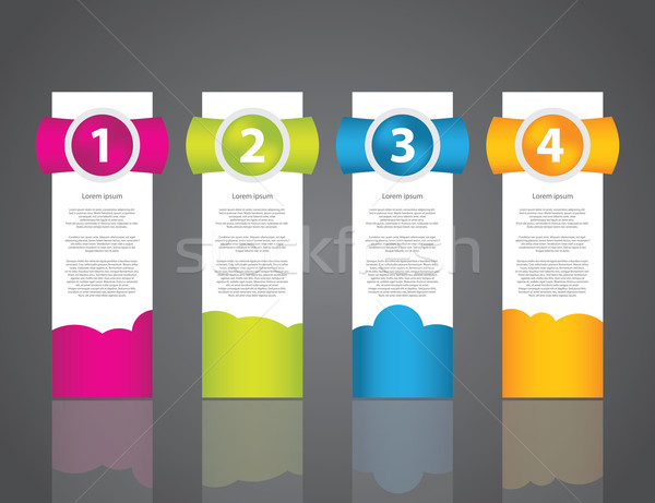 set of colorful sample labels for various options Stock photo © place4design