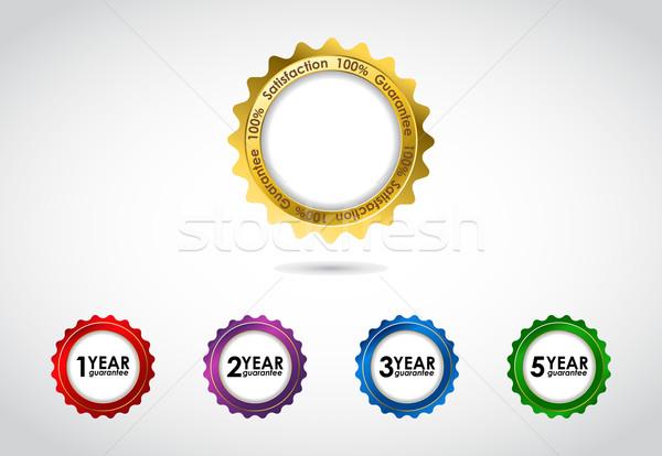özel vektör garanti imzalamak garanti etiket Stok fotoğraf © place4design