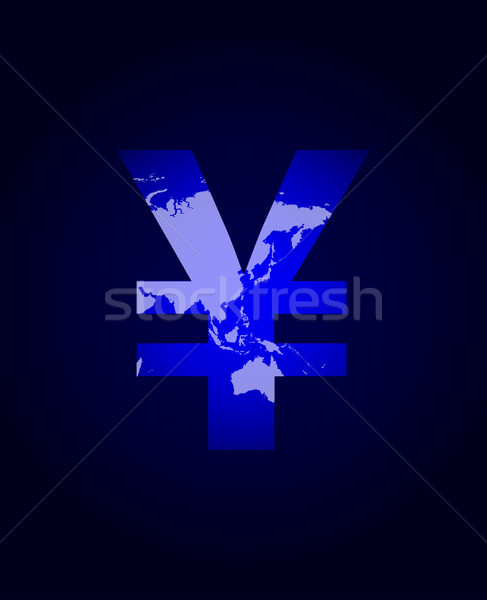 yen sign with plasma design Stock photo © place4design