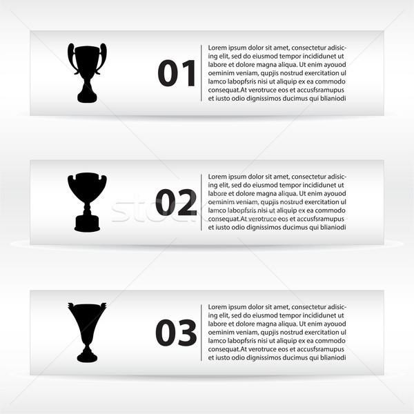 Specjalny banery wektora czarny trofeum kubek Zdjęcia stock © place4design