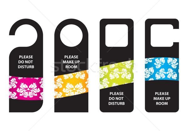 ホテル しない ドア ハンガー 紙 デザイン ストックフォト © place4design