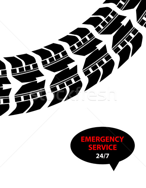 Emergência serviço projeto caminhão acelerar compras Foto stock © place4design