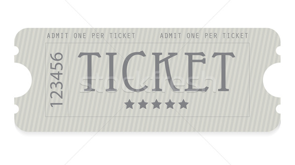 old entrance ticket with special design Stock photo © place4design