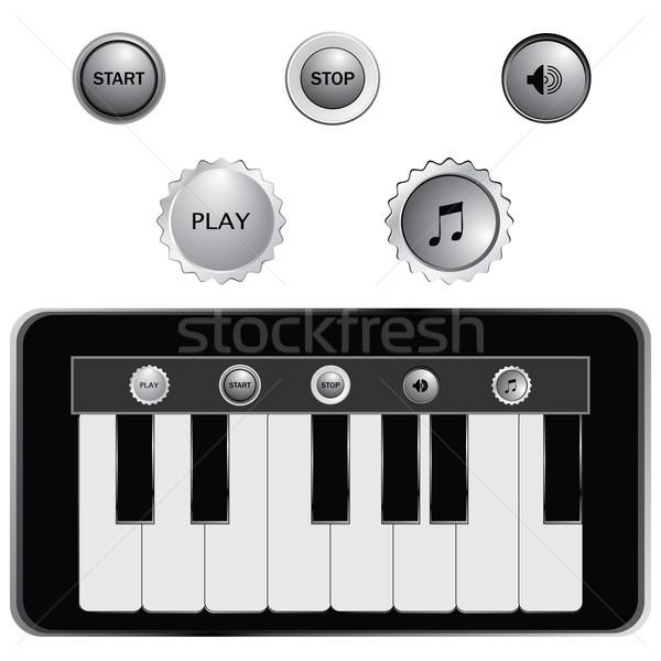 вектора клавиши пианино дизайна знак рок концерта Сток-фото © place4design