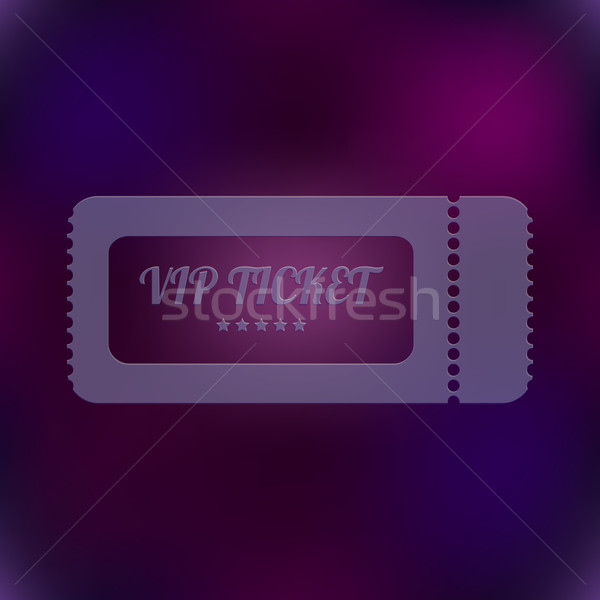 vector VIP ticket  Stock photo © place4design