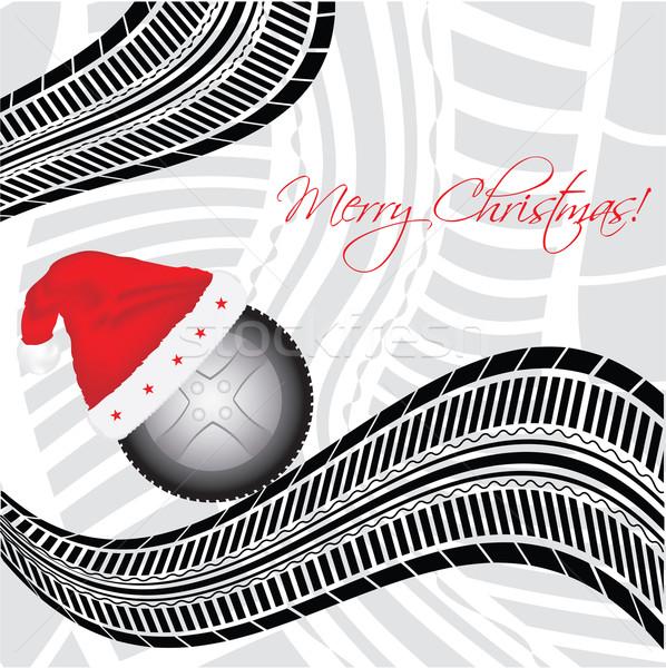 Stock fotó: Különleges · karácsony · autógumi · terv · kalap · verseny