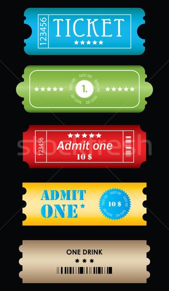 билеты различный Стили вектора бизнеса фильма Сток-фото © place4design