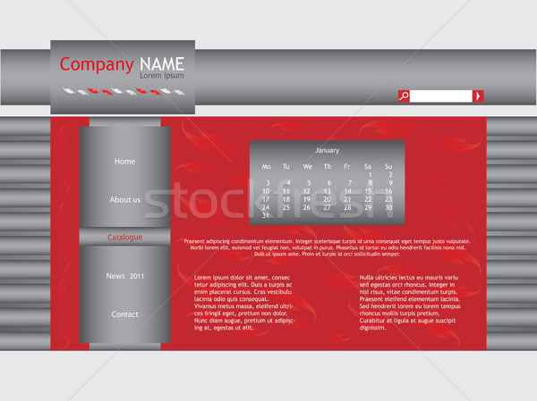 Rouge site web modèle résumé design cadre Photo stock © place4design