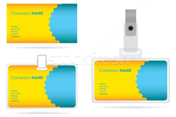 name tag set in editable vector format Stock photo © place4design