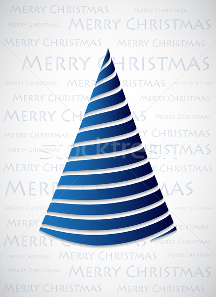special blue Christmas tree made with blue ribbons Stock photo © place4design