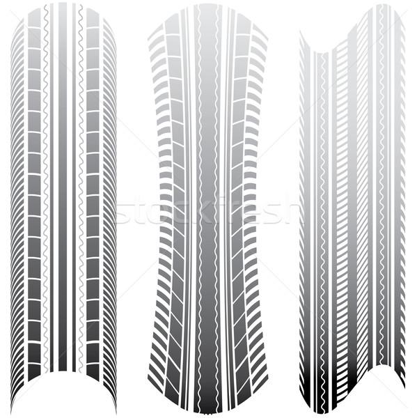 Vektor autógumi üzlet textúra út utca Stock fotó © place4design