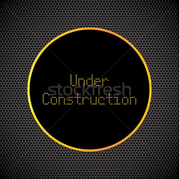 Construção cromo metal grade projeto internet Foto stock © place4design