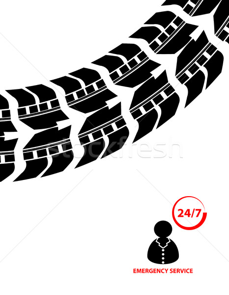 emergency service background, contact 24/7  Stock photo © place4design