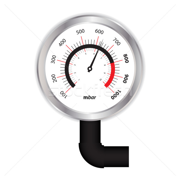 Stock photo: special manometer on white background