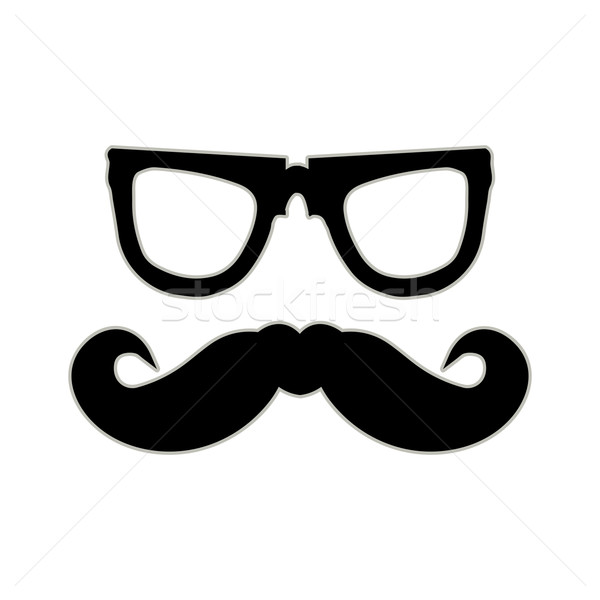 Hipster mustache and glasses. EPS10 vector background Stock photo © place4design