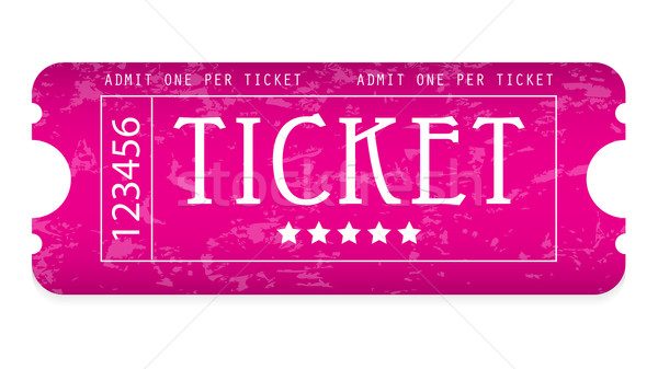 special grunge movie ticket for your website Stock photo © place4design