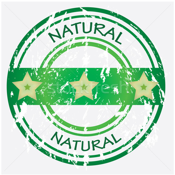 Natural food or product label - green VECTOR Stock photo © place4design